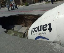 Reportan socavón en Reynosa, Tamaulipas