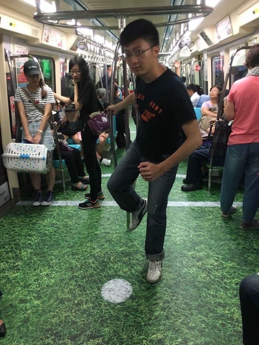 Cancha de futbol - Metro en Taiwán