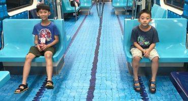 Taiwán y las increíbles decoraciones en sus vagones de metro