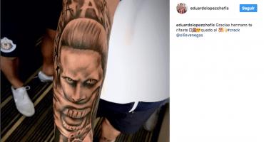 La 'Chofis' se tatuó el Guasón de Jared Leto y no entendemos por qué