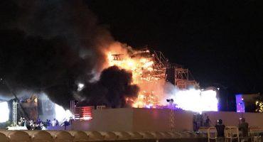 Tomorrowland España es evacuado por un incendio en el escenario