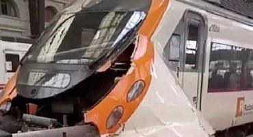 Choque de tren en Barcelona deja 54 heridos