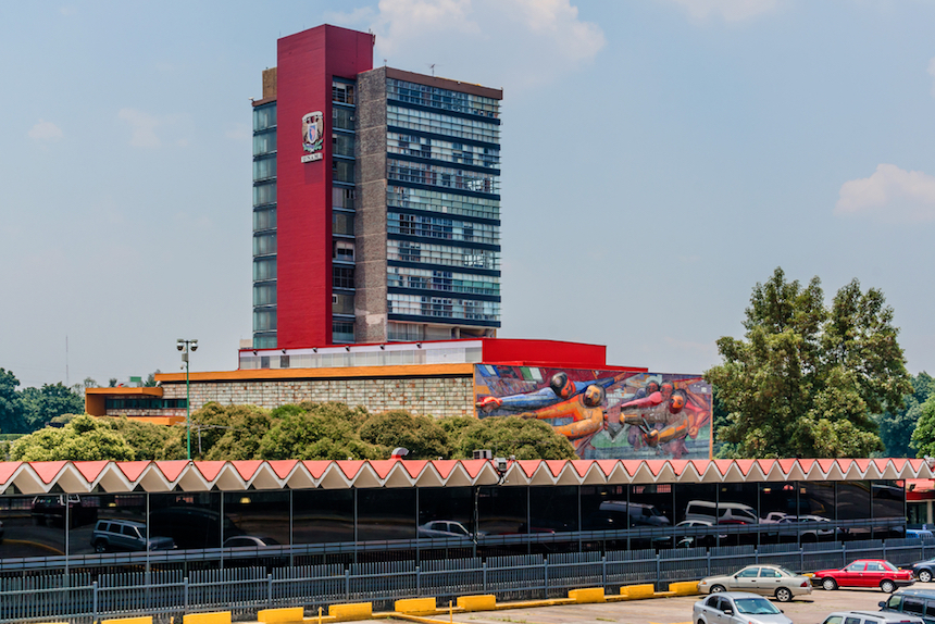 vista de Rectoría de la UNAM