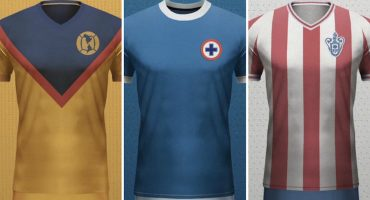 Checa los diseños vintage que se rifó un fan con equipos de la Liga MX