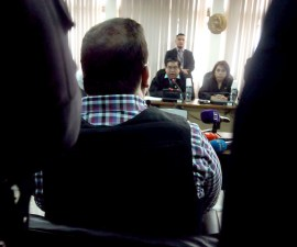 Javier Duarte asiste a su tercera audiencia en Guatemala