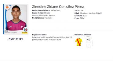 Zinedine Zidane juega en Monarcas Morelia