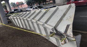 Cae viga del segundo piso en carriles centrales del Periférico de la CDMX