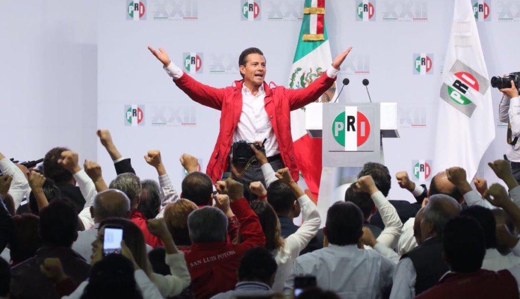 Peña Nieto durante la XXII Asamblea Nacional del PRI