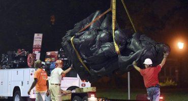 Después de lo ocurrido en Charlottesville, cuatro estatuas confederadas son retiradas en Baltimore