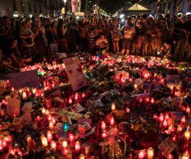 Fotografía de Barcelona luego del atentado