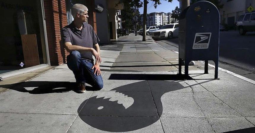 Artista callejero - Trabajo con sombras