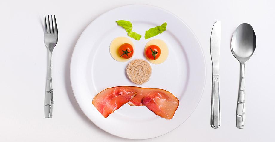 Comida y enojo