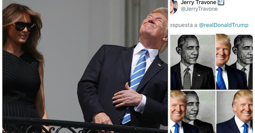 Donald Trump comparte meme contra Barack Obama
