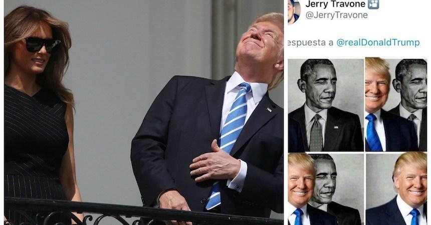 Donald Trump comparte meme contra Barack Obama