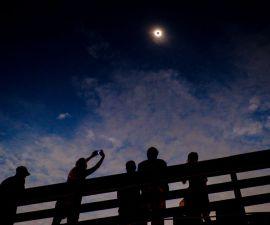 vista del eclipse solar
