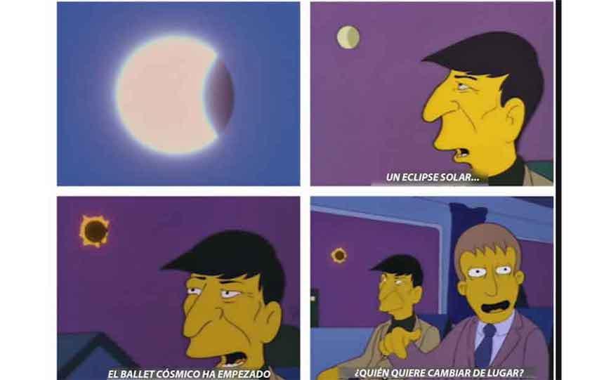 Memes del eclipse - Los Simpson