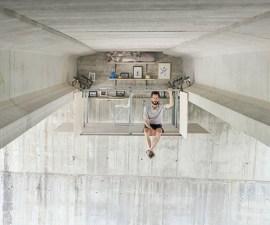 Valencia - Un estudio construido debajo de un puente