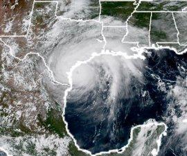 Huracán Harvey, vista satelital