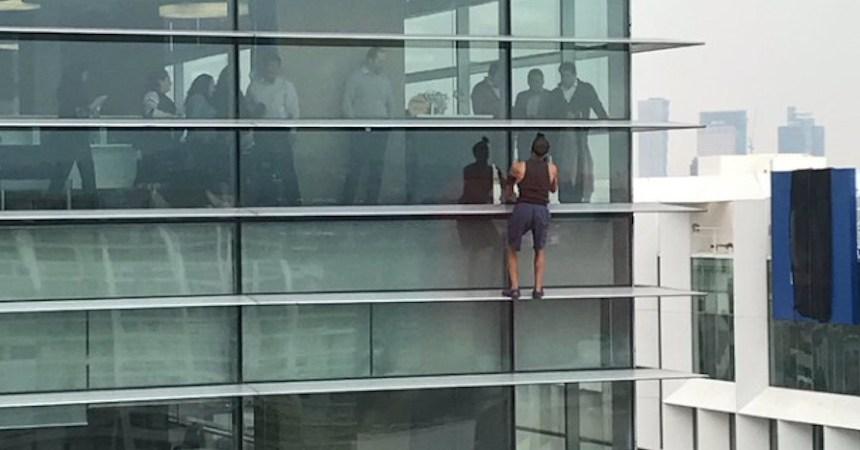 El ruso que escaló un edificio en la Ciudad de México