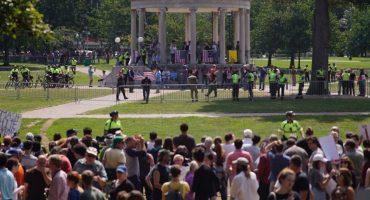 Manifestación de la 'derecha alternativa' en Boston a una semana de #Charlottesville