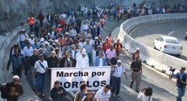 Morelos: ante inseguridad, caravana marcha a la CDMX, exige intervención de EPN
