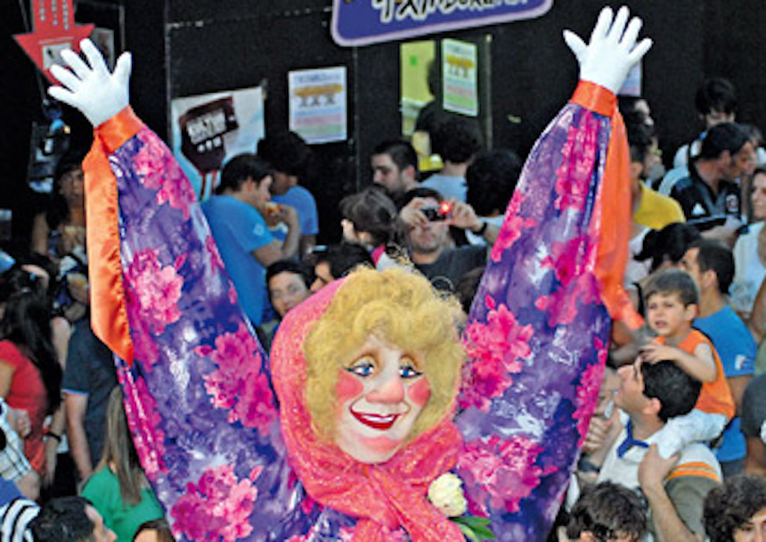 Marijaia, mascota de la Semana Grande en Bilbao