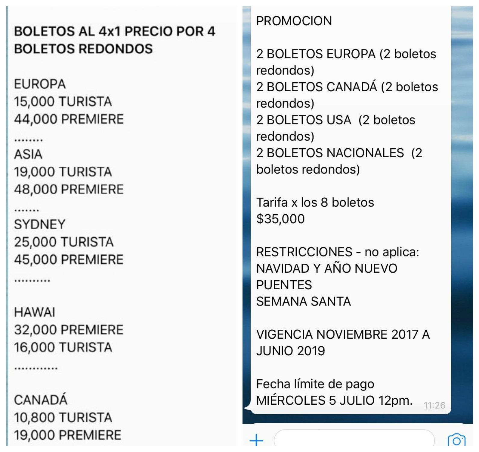 Hacen fraude a través de Whatsapp con ofertas de Aeroméxico
