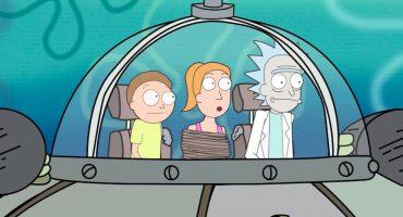 Mira a Rick y Morty improvisar una escena en el mundo de Bob Esponja