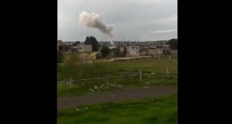 Explosión en taller de Tultepec