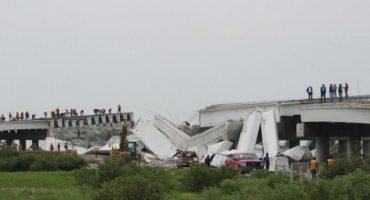 Colapsa puente del NAICM tras sufrir daños en el sismo