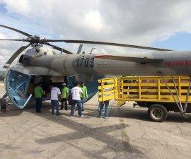 helicóptero en Chiapas