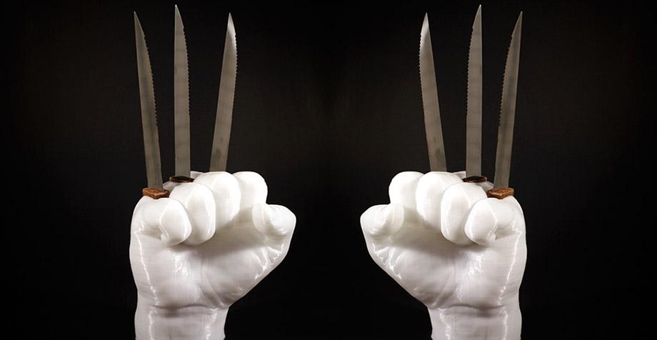 Luce tus cuchillos para mantequilla con este sujetador a la Wolverine
