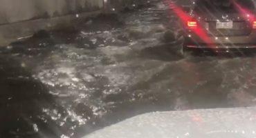 Túnel de Mixcoac recién inaugurado sufre inundación y cierra