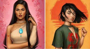 Una artista reinventó a las princesas de Disney como si vivieran en el 2017