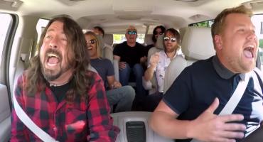 Los Foo Fighters se suben al 'Carpool Karaoke' de James Corden