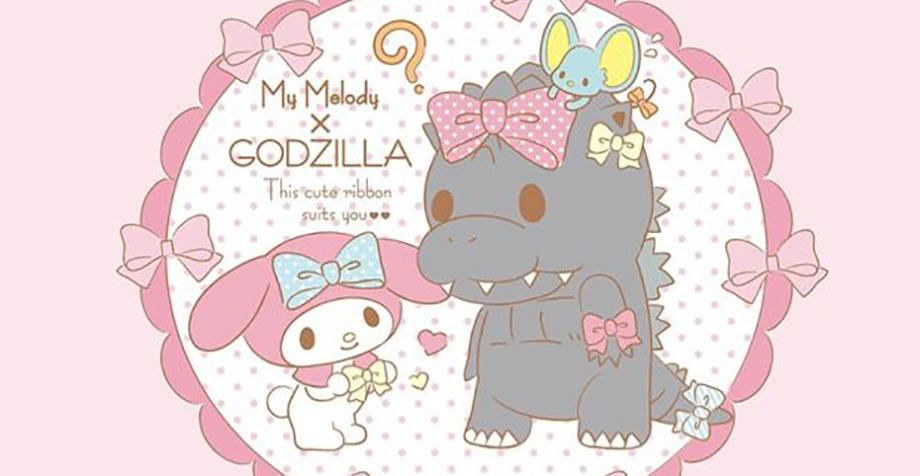 WTF!?: Godzilla se hace amigo de… ¿Hello Kitty?