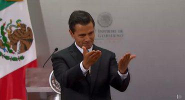 Peña Nieto dando el Quinto Informe de Gobierno