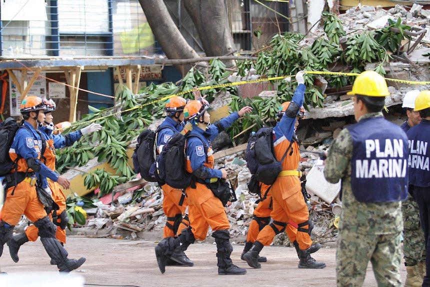 Rescatistas japoneses apoyaron a México después del sismo