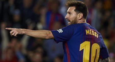Hat-trick de Messi, debut de Dembelé y goleada del Barcelona