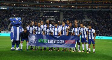 El FC Porto muestra su solidaridad con México en su partido de la Liga Portuguesa