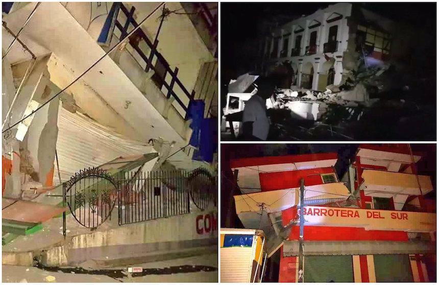 Los estragos que el sismo dejó en Oaxaca y Chiapas