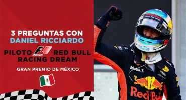 Gran Premio de México: 3 preguntas con Daniel Ricciardo