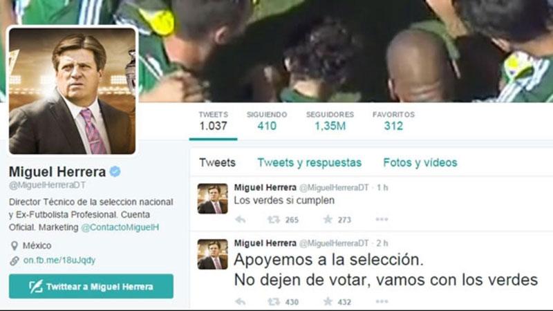 Tuit Miguel Herrera Partido Verde