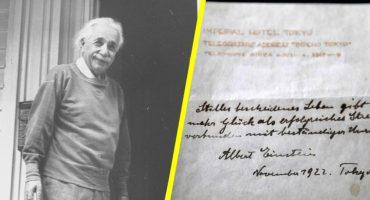 Teoría de la Felicidad de Einstein es subastada en 1.5 millones de dólares