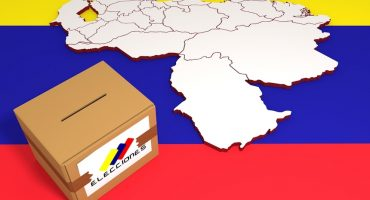 urna y mapa de Venezuela