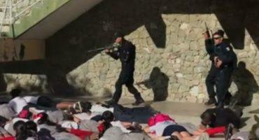 En Baja California Sur, niños son entrenados para actuar en caso de balaceras
