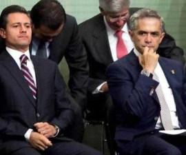 Enrique Peña Nieto y Miguel Ángel Mancera