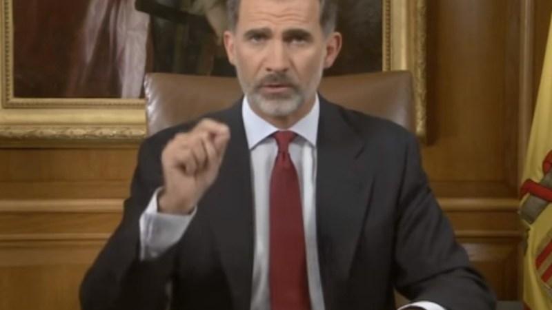 Mensaje del rey Felipe VI tras referéndum de Cataluña