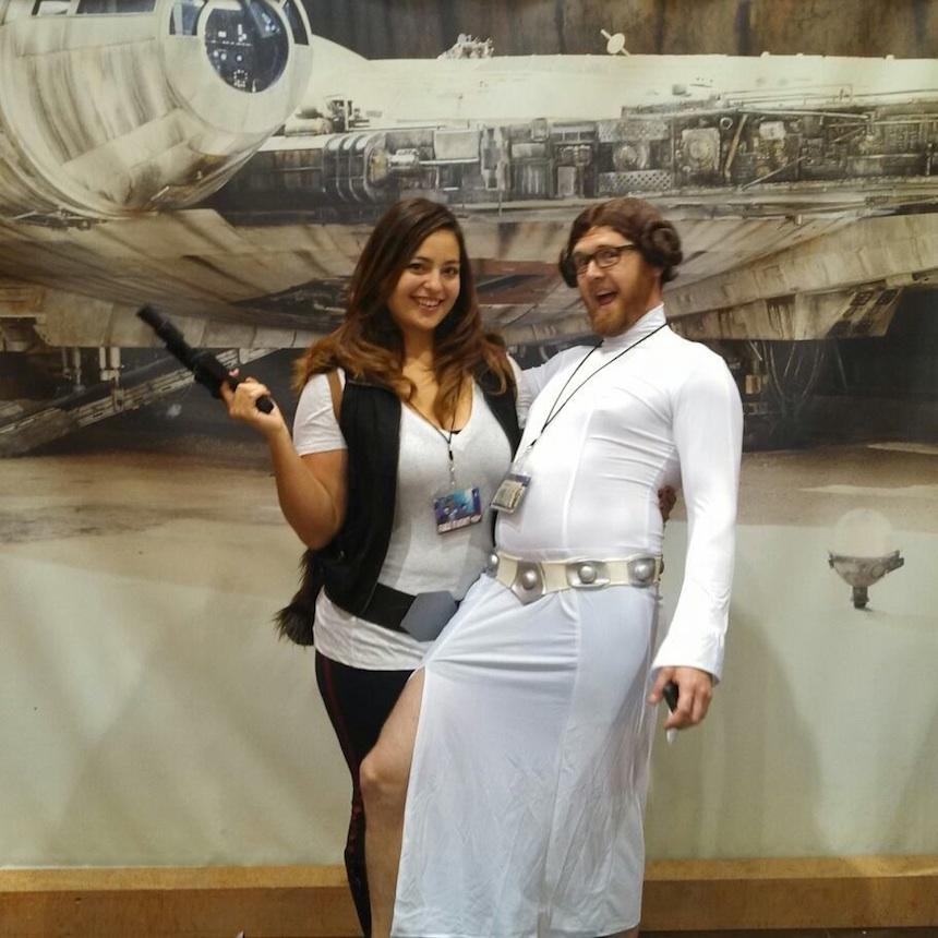 Disfraces para parejas de Halloween - Han Solo y Leia