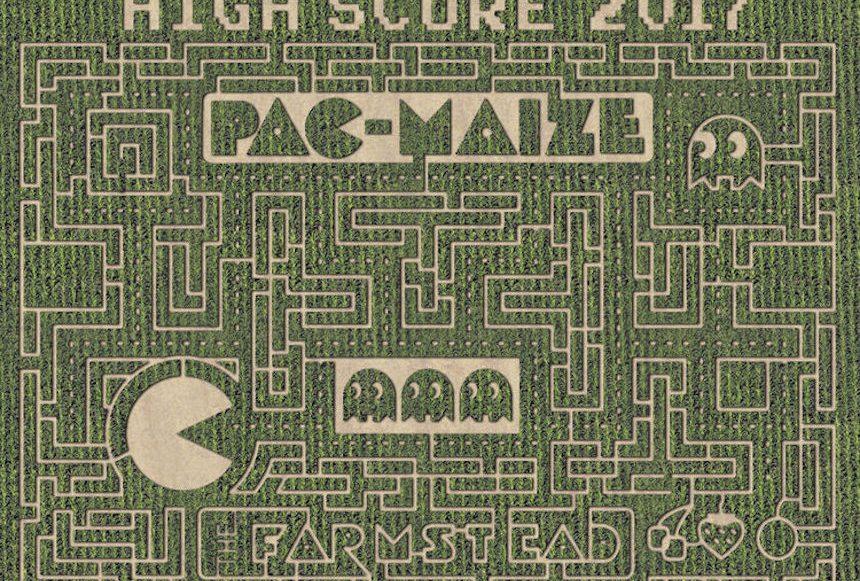 Laberinto de maíz estilo Pac-Man